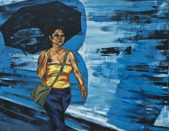 Dame la B (mixta / lienzo. 125 x 160 cm)