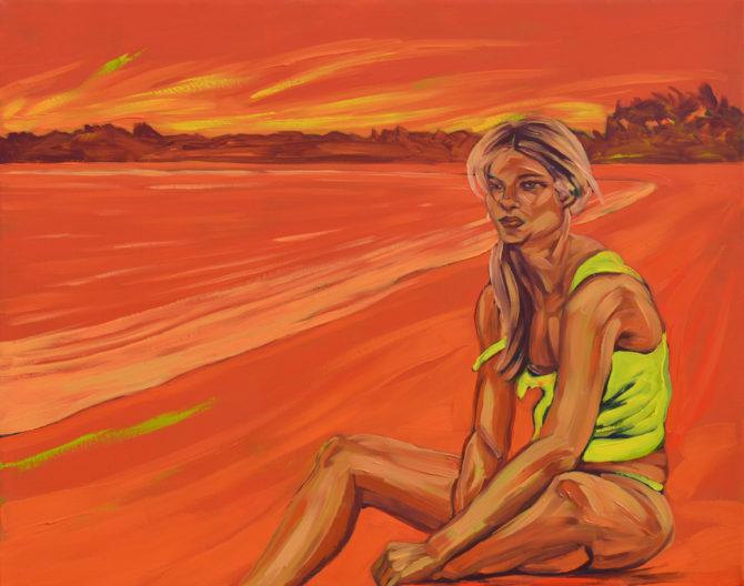 Vivir en la orilla (óleo / lienzo 80 x 100 cm)