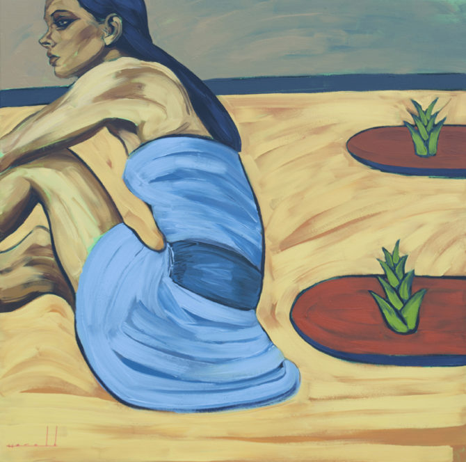 Sobrevivientes (óleo sobre lienzo 100 x 100 cm)