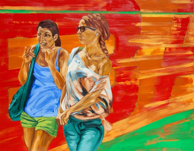 Dame la B (mixta sobre lienzo 125 x 160 cm)