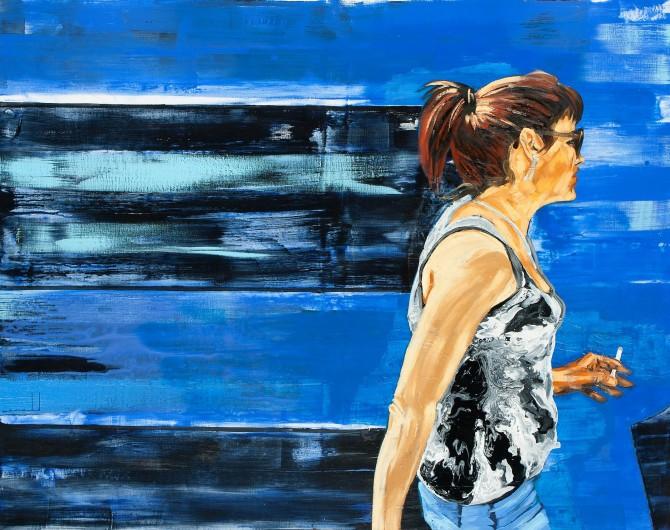 Dame la R 2 (mixta sobre lienzo 125 x 160 cm)