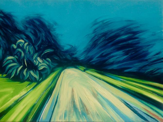 Carretera. (Óleo / Lienzo 45 x 61 cm)